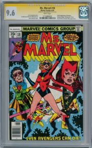 Ms. Marvel #18 CGC 9.6 Signature Series Signed Chris Claremont 1st  Mystique Movie Marvel comic book
